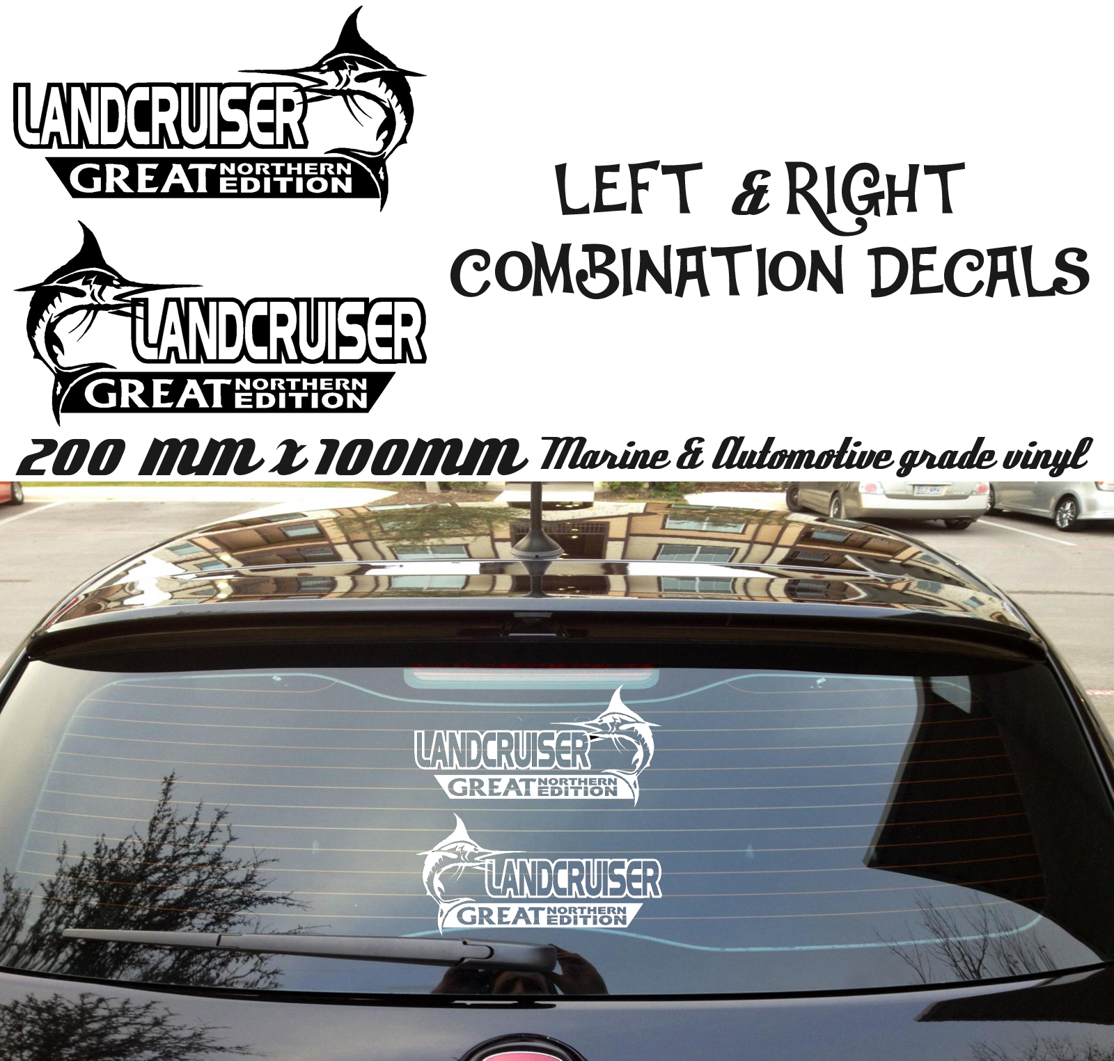 Pair of landcruiser great northern stickers ute car